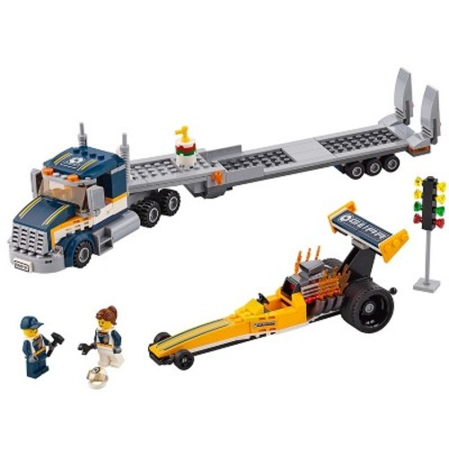 LEGO City Great Vehicles Dragster Transporter 60151