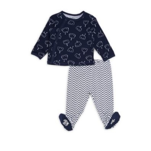 Petit Lem - Baby's Two-Piece Top and Footed Pants Set