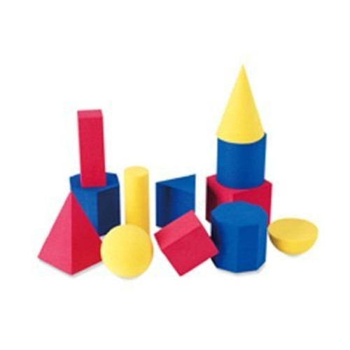 5 Pack LEARNING RESOURCES HANDS-ON SOFT GEOMETRIC 12/PK