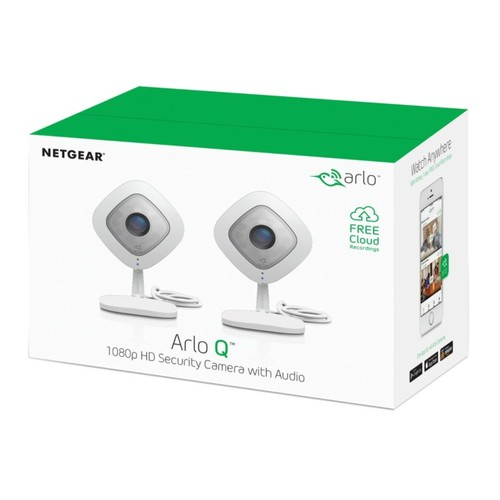 Netgear Arlo Arlo Q Wireless 1080p Security Camera 2-Pack, VMC3240-100NAS
