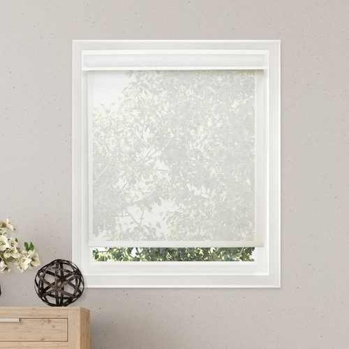 Chicology 35 in. W x 72 in. L Cloud White Solar Horizontal Roller Shade