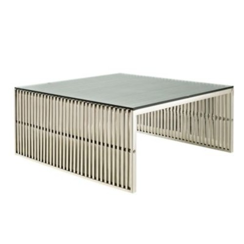 Modway Gridiron Coffee Table in Stainless Steel