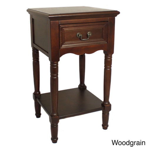 Casa Cortes Antiqued Solid Wood Night Stand [Finish : White Finish]