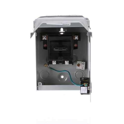 Siemens 60 Amp Fusible AC Disconnect with 15 Amp GFCI Receptacle in a Steel Enclosure