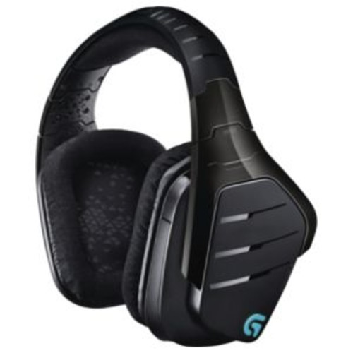 Logitech G933 Artemis Spectrum Gaming Headset - 2.4GHz Wireless, Dolby 7.1 Surround Sound, Pro-G Audio Drivers, 3 Programmable G-Keys, Customizable RGB Lighting and Tags (Refurbished) - 981-000585-RB