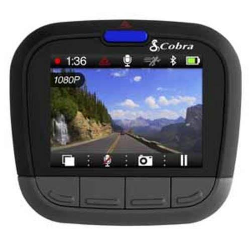 Cobra CDR Drive HD Dash Cam with Bluetooth Smart Enabled GPS and iRadar Alerts