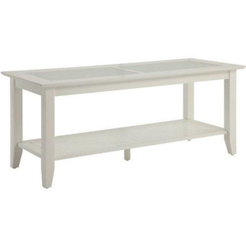 Carmel Coffee Table - White (Large) - Convenience Concepts