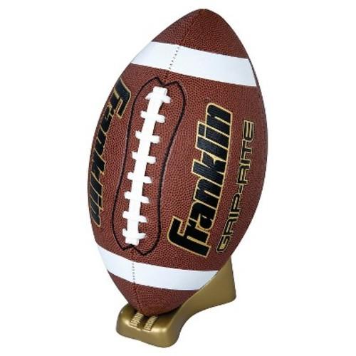 Franklin Sports Grip-Rite Pump & Tee Football Set Official - Brown