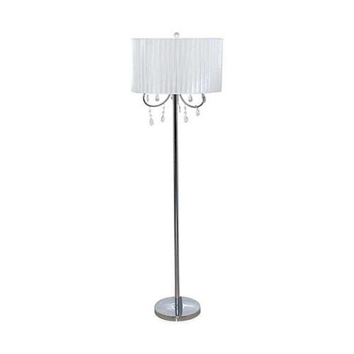 CATALINA LIGHTING White Chandelier Floor Lamp