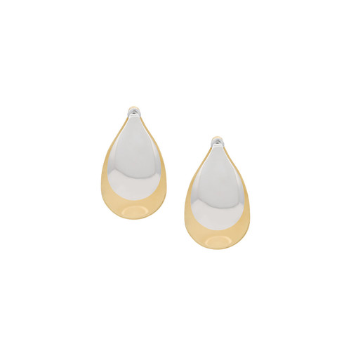 large Petal gold-plated earrings