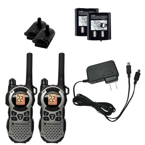 Motorola TALKABOUT MT352R 35-Mile 22 Channel FRS/GMRS Two-Way Radios with Rechargeable Batteries and Charging Cable, Bra