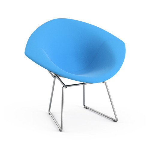Bertoia Child's Diamond Chair with Full Cover [Fabric color : K10001 - Presto Winter White - Poly]