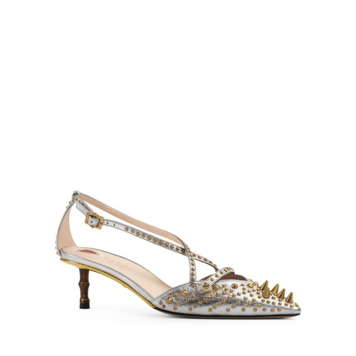 GUCCI Unia Studded Pointed Toe Pumps