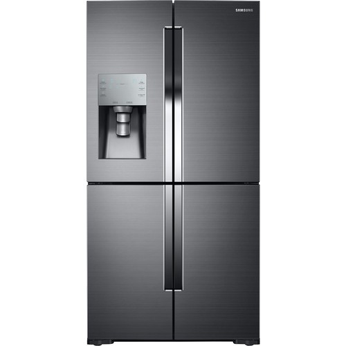 Samsung 35.75 in. W 28.1 cu. ft. French Door Refrigerator in Black Stainless Steel