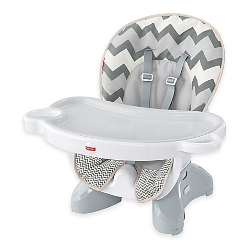 Fisher-Price Deluxe Spacesaver High Chair in Grey/White