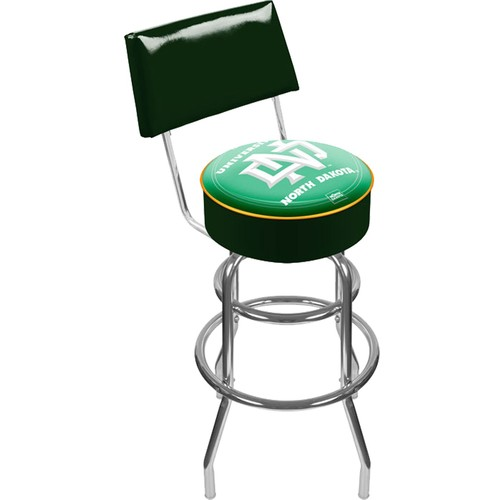 Trademark Games North Dakota Fighting Hawks Padded Swivel Bar Stool with Back