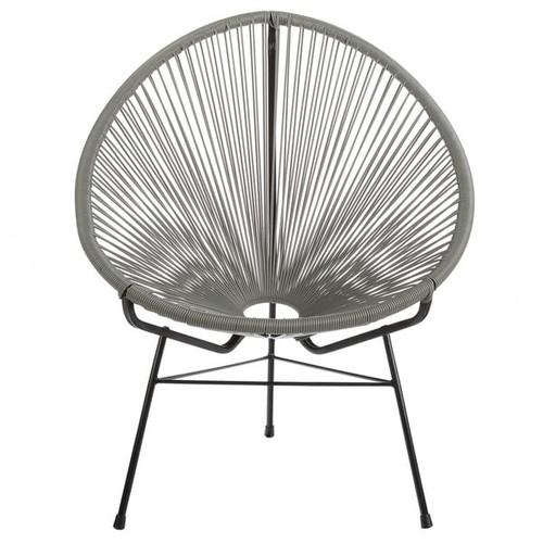Acapulco Indoor / Outdoor Outdoor Patio Lounge Chair, Grey - Acapulco Lounge Chair Grey