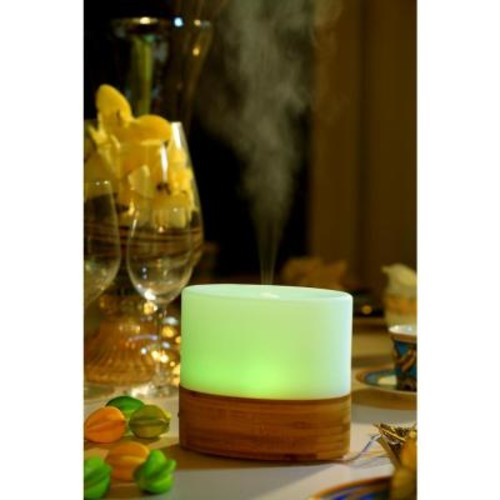 SPT 100mL Ultrasonic Aroma Diffuser/Humidifier with Bamboo Base