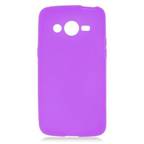 Insten Rubber Skin Gel Case For Samsung Galaxy Avant - Purple