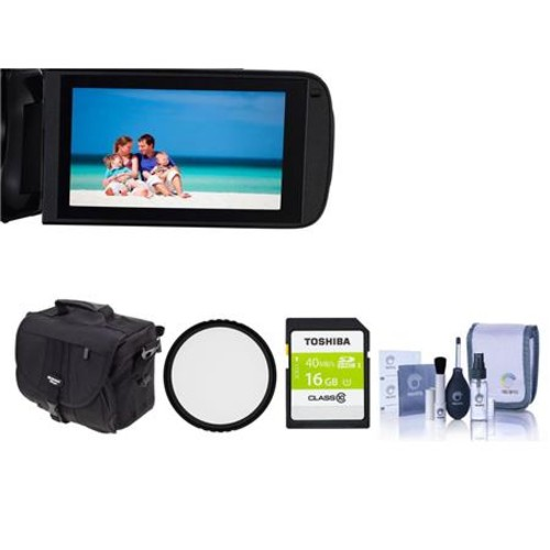 Canon VIXIA HF R700 3.2MP Full HD Camcorder, Black with Free Accessory Bundle 1238C001 A