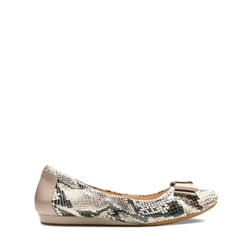 Women's Tali Flex Snake Embossed Ballet Flats