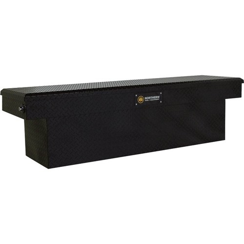 Northern Tool + Equipment Deep Crossover Gloss Black Truck Tool Box with Pushbutton Locking Latches  Aluminum, 69in.