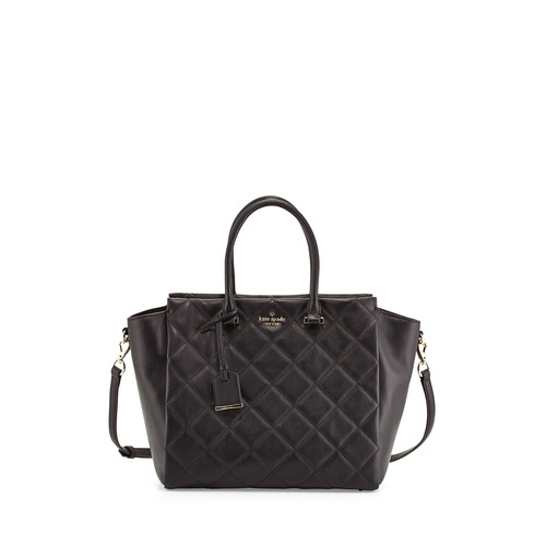 emerson place hayden quilted tote bag, black