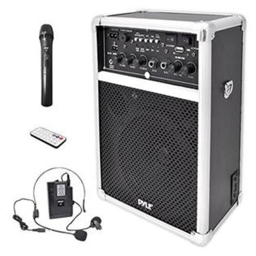 All in Audio Dual Channel 400 Watt Wireless Pa System W/Usb/Sd/Mp3, 2 Vhf Wireless Microphones (1 Lavalier, 1 Handheld)