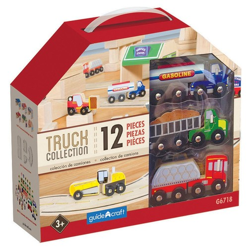 Wooden Truck Collection, Set of 12