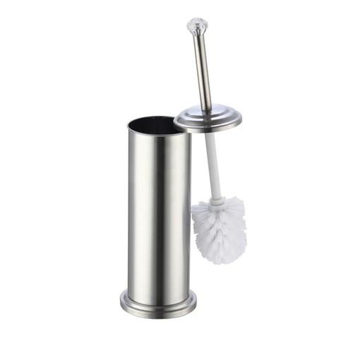 HOME basics Diamond Top Stainless Steel Toilet Brush Holder
