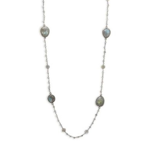 Bavna - Labradorite & Sterling Silver Single Strand Necklace