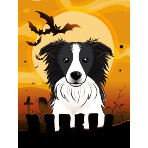 Caroline's Treasures Halloween 2-Sided Garden Flag; Border Collie