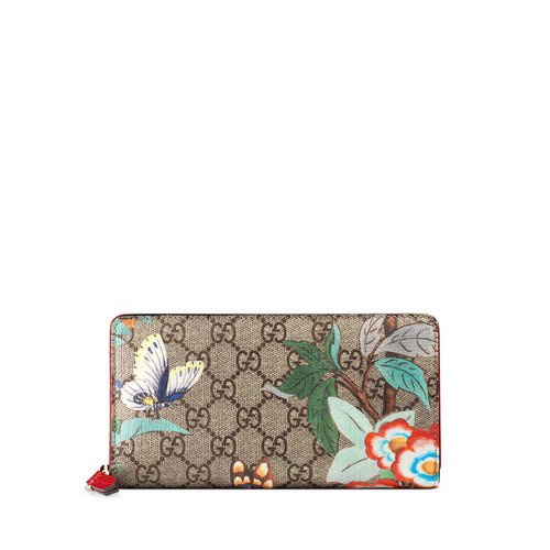 GUCCI Tian Gg Supreme Zip Wallet, Multi