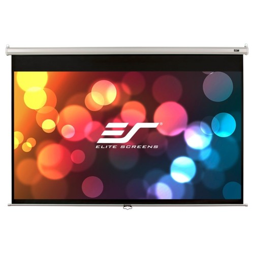 Elite Screens M120XWH2-E24 Manual Ceiling/Wall Mount Manual Pull Down Projection Screen (120