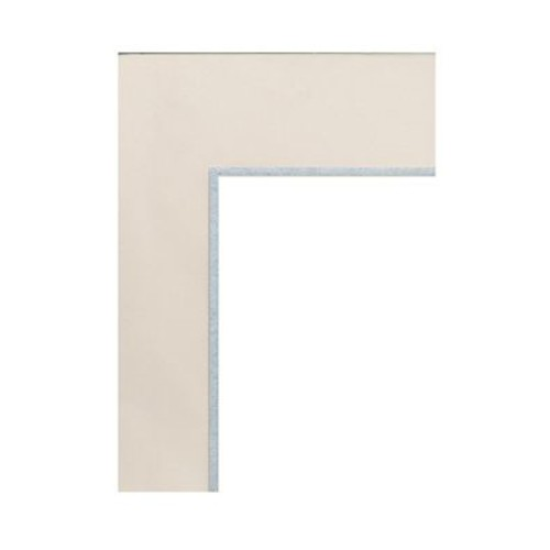 Logan Graphic Products Palettes Pre-Cut Mats Double Rectangle Seashell White/Silver 16 In. X 20 In. (M606-51)