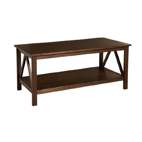 Linon Home Decor Titian Coffee Table [Antique Tobacco]