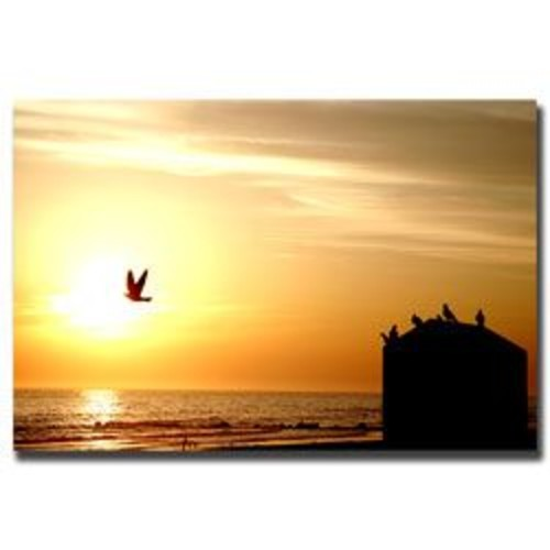 Trademark Global Yale Gurney 'By the Sea' Canvas Art [Overall Dimensions : 18x24]
