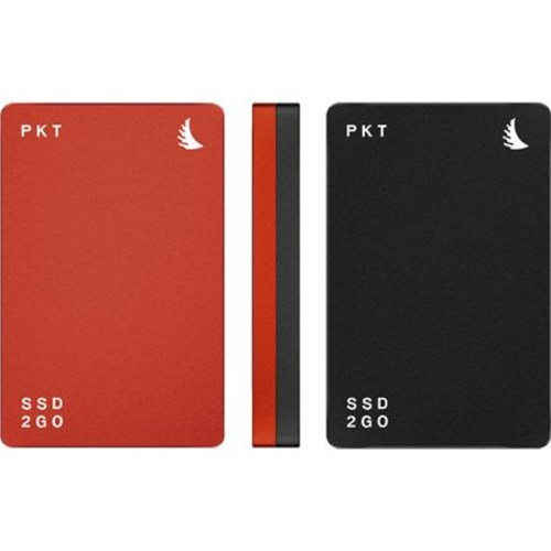 Angelbird SSD2GO PKT USB 3.1 Type-C 256GB External Solid State Drive, Red