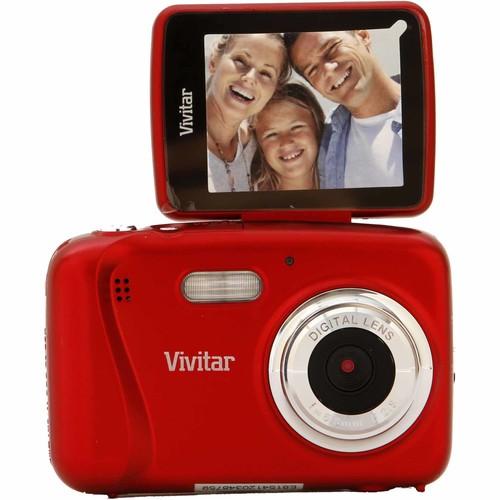 Vivitar VS124-RED-WM 16.1-Megapixel ViviCam ItwistS124 Digital Camera - Red