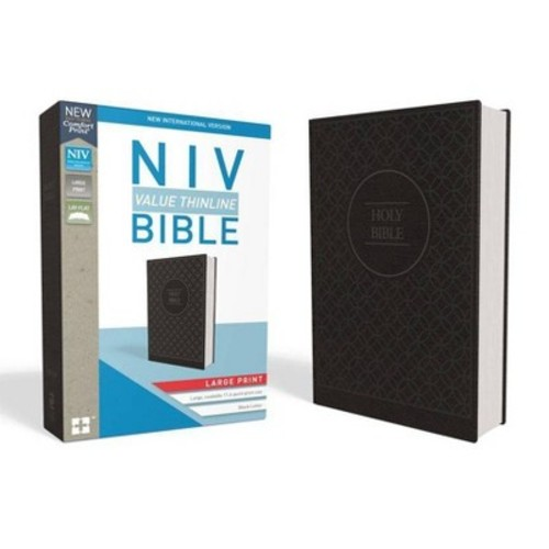 Holy Bible : New International Version, Value Thinline, Imitation Leather, Charcoal/Black (Large Print)