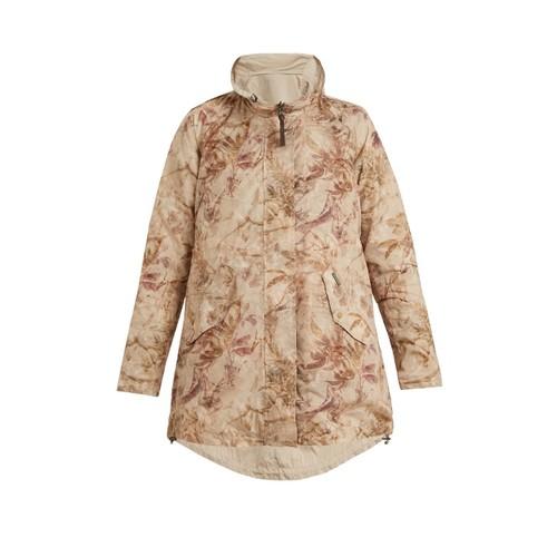 Reversible palm-print shell jacket