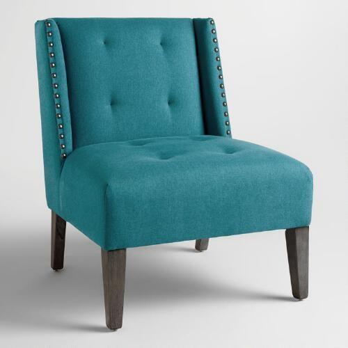 Pacific Blue Carlin Wingback Chair
