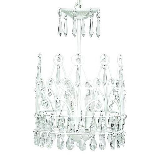 3 Light Chandelier - Crown - White