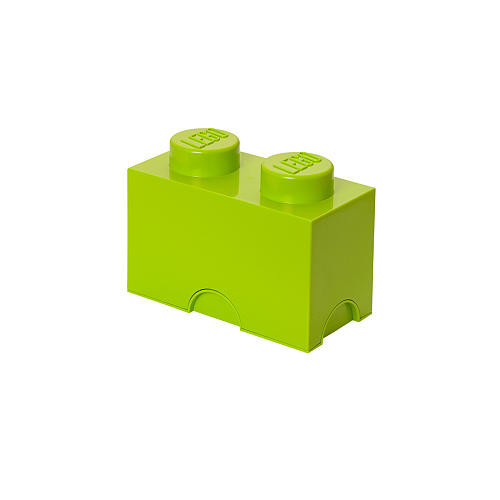 LEGO Stackable Storage Brick 2 - Light Yellow Green