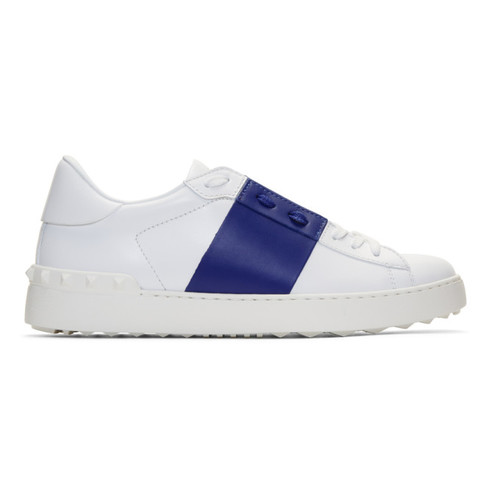 VALENTINO White & Blue  Garavani Open Sneakers