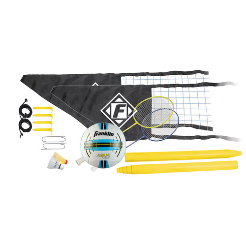 Franklin Easy Set Volleyball and Badminton Combo Set
