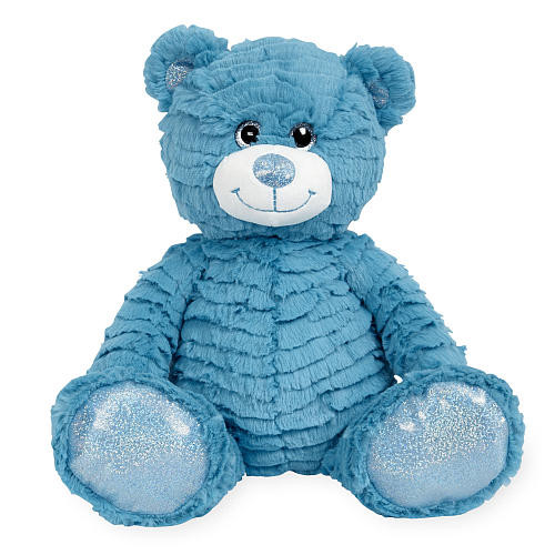Animal Alley 12 inch Bright Stuffed Teddy Bear - Blue