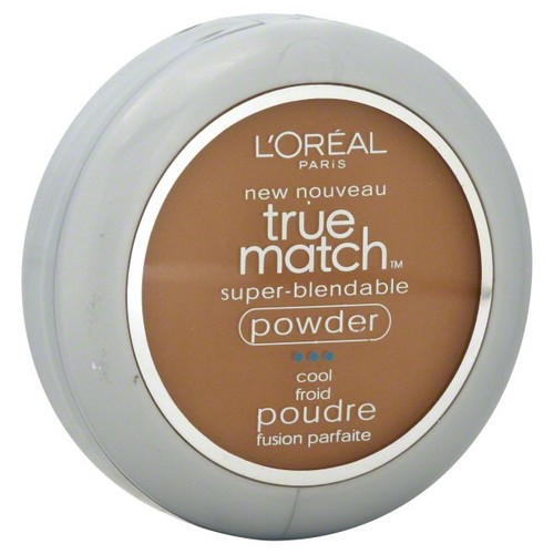 L'Oreal True Match Super-Blendable Powder, Cool, Nut Brown C7, 0.33 oz (9.5 g)