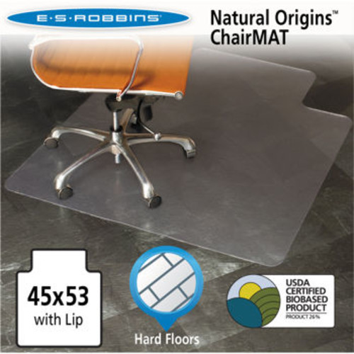 ES Robbins Natural Origins Chair Mat for Hard Floor 45