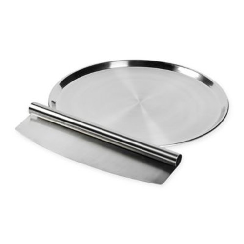 Tabletops Unlimited 2-Piece Stainless Steel Pizza Pan Set